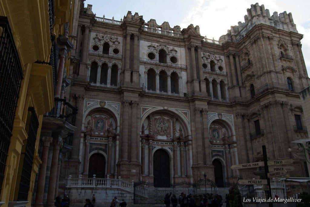 La catedral de Málaga, llamada la Manquita por que tiene una torre sin terminar, resumen viajero del 2016 - Los viajes de Margalliver